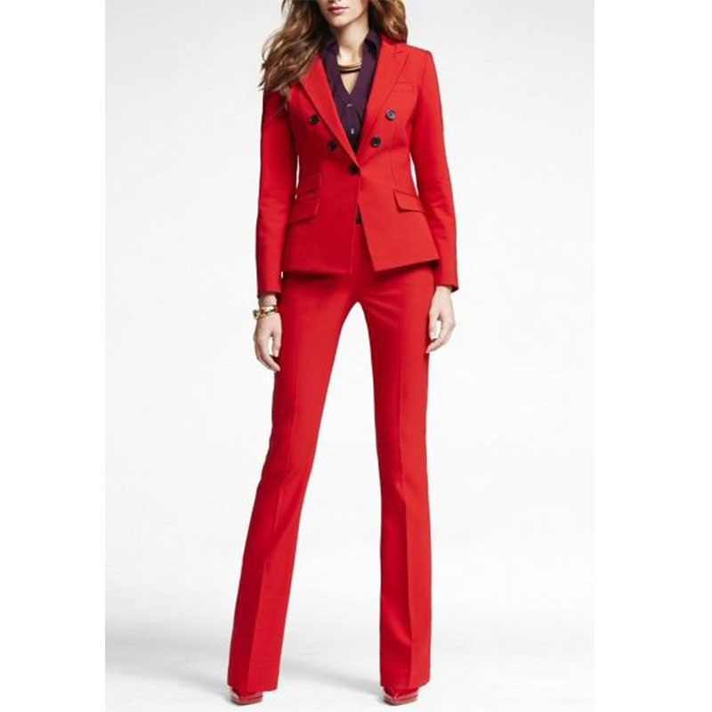 Aliexpress.com : Buy Red 2 piece set women business suits blazer ...