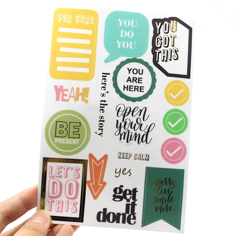 YPP CRAFT Keep Calm PVC Stickers for Scrapbooking Happy Planner/Card Making/Journaling Project