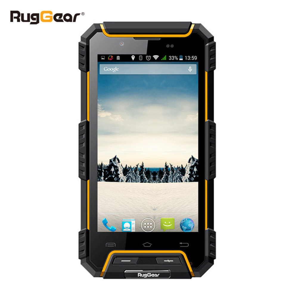 <font><b>IP68</b></font> Водонепроницаемый телефон RugGear rg702 RugGear APEX защита от пыли GPS Dual SIM Android Водонепроницаемый Смарт разблокирована сотовый телефон желтый