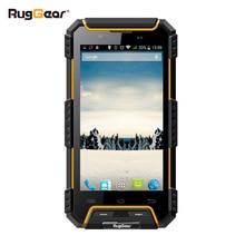 IP68 Étanche Téléphone RugGear RG702 RugGear Apex étanche à la poussière GPS Double SIM Android étanche intelligent Débloqué téléphone portable Jaune