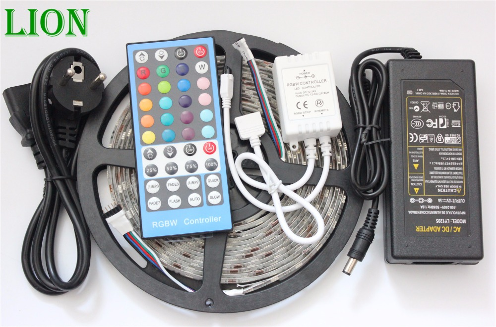 Waterproof Ip20/65/67 5050 Rgbw Ww Led Strip 5m 300 Led Smd 40 Keys Ir Remote Controller 12v 5a Power Adapter Flexible Light Lights & Lighting