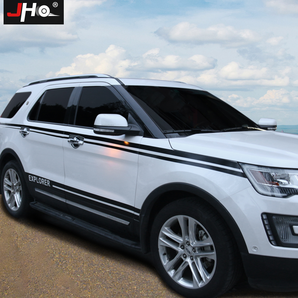 JHO Customized Whole Car Body Stickers Drawing Lines Decal Vinyl For Ford Explorer 2013 2014 2015