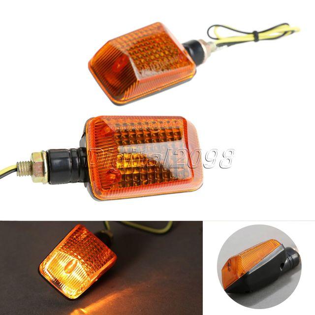 4x lente laranja sinal da volta da motocicleta atv bicicleta motocicletas indicadores não luzes led luz lâmpada âmbar 12 v acessorios parágrafos moto