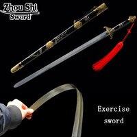 Esportes ao ar livre Recreação Exercício Espada tsuba Morcegos 1060 Aços Mão-forjar Chinês Tai Chi Espada