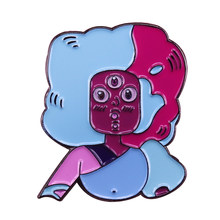 Steven universe pin gemme di cristallo leader Granato distintivo cute cartoon show di successo di spilla di arte accessorio(China)