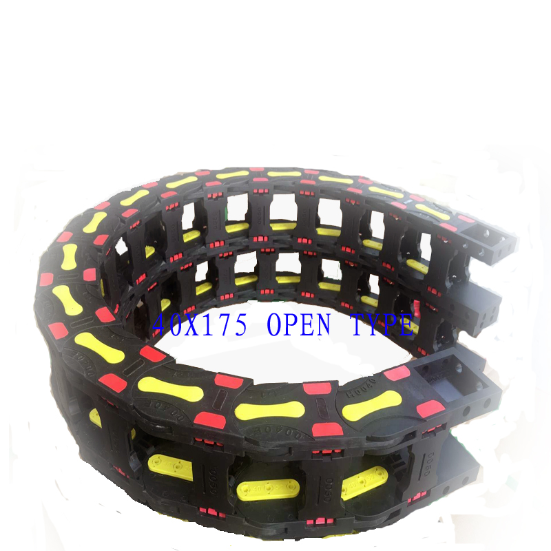 все цены на Free Shipping 40x175 10 Meters Bridge Type Plastic Cable Carrier With End Connectors