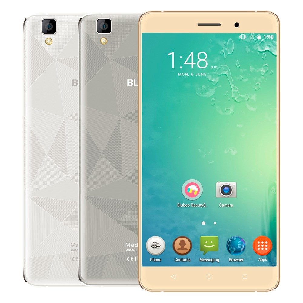 Original Bluboo Maya Mobile Phone MT6580A Android 6 0 Quad Core 1280 720 5 5 inch