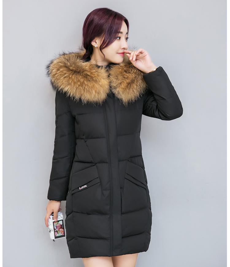 Winter New Korean Version Of The Trend Of Ms. Down Jacket In The Long Section Slim Was Thin Thick Women's Hair Collar children s 2017 winter new children s down jacket big girls in the korean version of the girls down jacket long thick coat