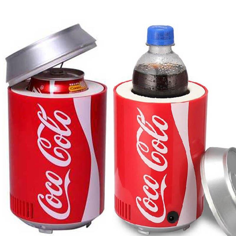Portable Mini USB PC Car Laptop Fridge Cooler Mini USB PC Refrigerator DC 5V 12V Warmer Cooler Beverage Drink Cans Freezer