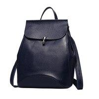 Nesitu Fashion Red Purple Black Blue Grey Genuine Leather Small Women Backpack For Girl Shoulder Bag