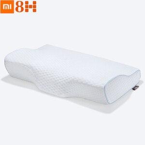 Image 1 - Originele Xiaomi 8H Trage Rebound Contour Memory Foam Kussen S H2 Zachte Antibacteriële Vlinder Vleugels Vorm Hals ondersteuning Kussen S