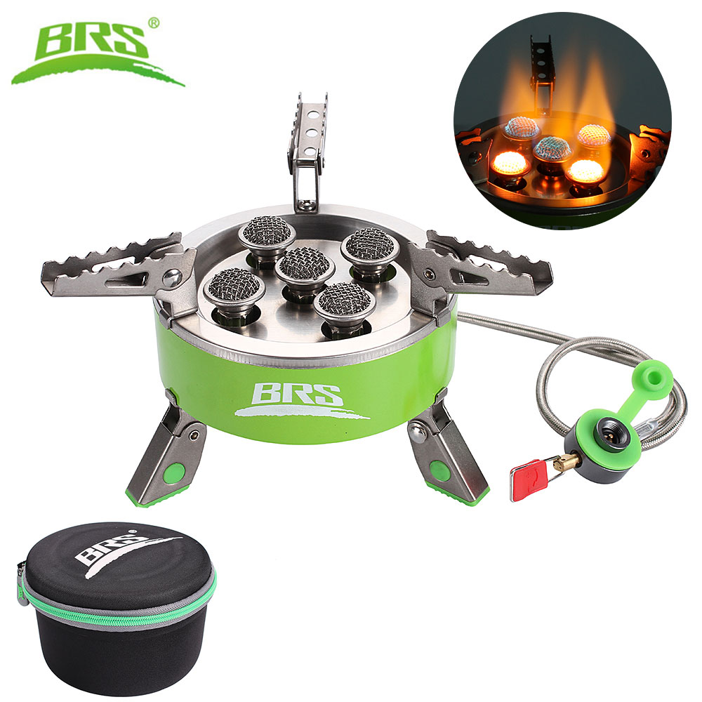 цена на BRS Portable Outdoor Camping BBQ Stove Burner Gas Picnic Gas Stove Butane Gas Furnace Field Party Burner 7000W BRS-75