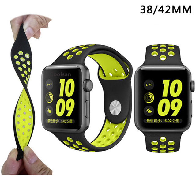 Soft Silicone Sport Band For Apple Watch Series 2 Replacement Strap for Apple iWatch Nike Sport