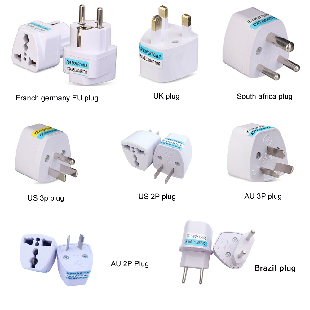 Universal Kr American European AU EU To US UK Power Plug Adapter USA Israel Brazil Travel Adapter Plug Converter Japan Korea