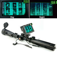 100M /200M DIY Day Night Vision scope w blue LCD Monitor 25mm /30mm mount rings IR Torch for Tactical binocular Riflescope Rifle