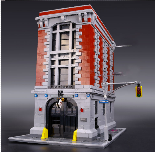 Lepin 16001 4695Pcs Ghostbusters Firehouse Headquarters Model Building Blocks Kits Toys For Children Compatible With 75827 4695pcs lepin 16001 city series firehouse headquarters house model building blocks compatible 75827 architecture toy to children