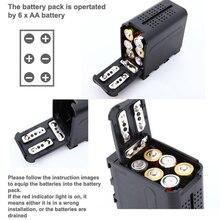 Cassa di batteria Pacchetto BB 6 6pcs AA Batterie di Alimentazione di Lavoro come NP F970 Per Pannelli Luminosi LED Video Per Monitor YN300 II DV 160V