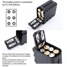 Pin Ốp Lưng Gói BB 6 6 Pin AA Điện Làm Việc giống như NP F970 Cho ĐÈN LED Video Dành Cho Màn Hình YN300 II DV 160V