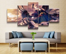 Battle cruiser Azur Lane Game Painting Wall Art Canvas 5 Piece HD Print For Living Room Decor Artwork