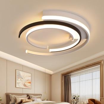LICAN Modern LED Ceiling Lights Living room Bedroom lustre de plafond moderne luminaire plafonnier White Black LED Ceiling Lamp 4