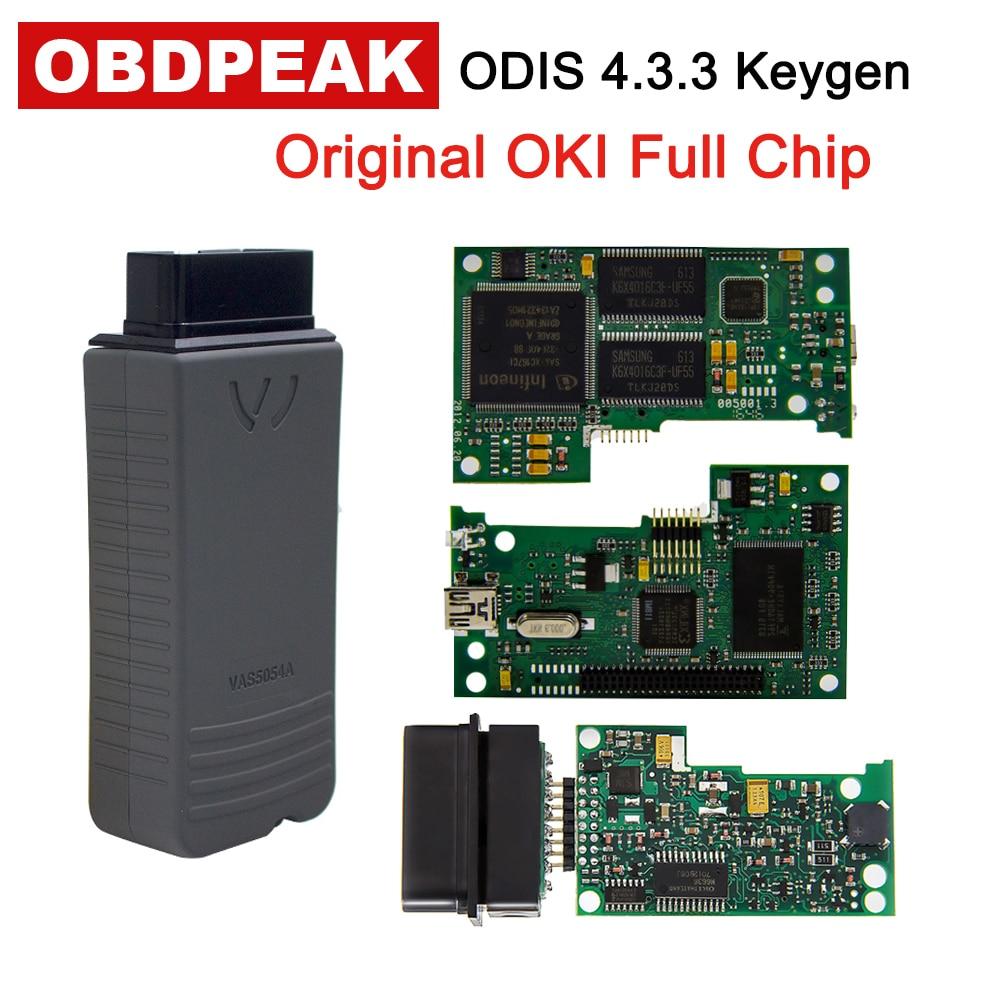 VAS 5054A With OKI Keygen VAS5054A Bluetooth ODIS 4.3.3 For VW/AUDI/SKODA/SEAT VAS 5054 Full Chip Support UDS Protocols