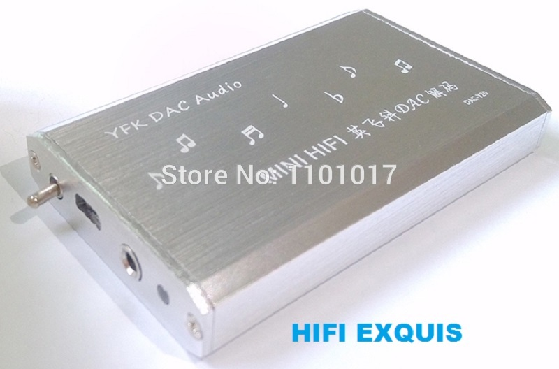 где купить HIFI EXQUIS YEK PCM2706 DAC TDA1305 decoder amp Notebook PC USB sound card headphone amplifier дешево