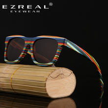 EZREAL New 2016 Fashion 100% Handmade Wood Wooden Sunglasses Cute Design for Men Women gafas de sol steampunk Cool Sun Glasses