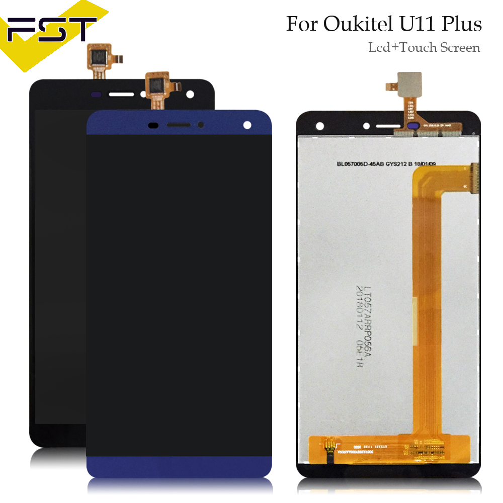 5.7Black/Blue For Oukitel U11 Plus LCD Display+Touch Screen Screen Digitizer Assembly Repair Parts+Tools +Adhesive5.7Black/Blue For Oukitel U11 Plus LCD Display+Touch Screen Screen Digitizer Assembly Repair Parts+Tools +Adhesive