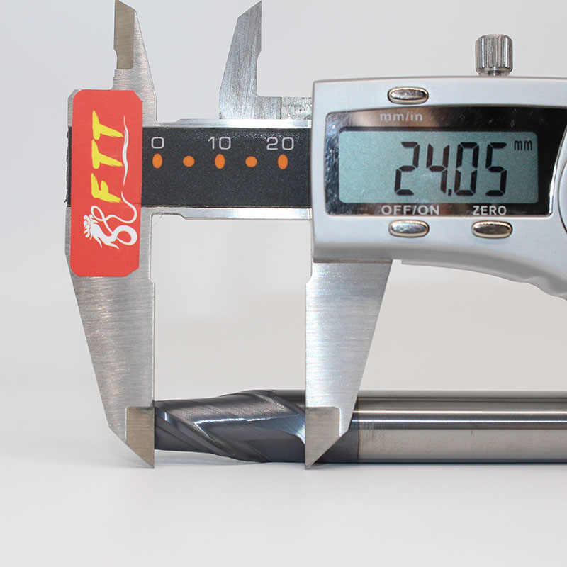 1 PC 12mm 2 Flauta Bola Nariz Fim Moinho R6 D12X24LXD12X75L Hrc45 Metal Duro Revestido Cone Fresa CNC Gravura Moagem Bit