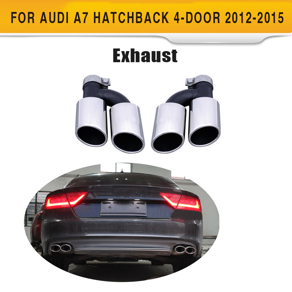 Stainless Steel Car Muffler Exhaust Tips For Audi A7