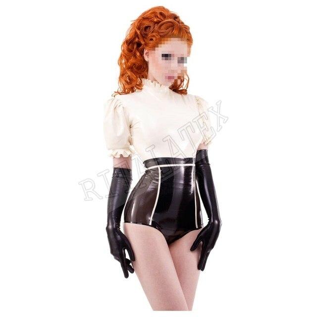 9a995b6de31 Sexy Latex lingerie Set High Waist Latex Rubber knickers Latex Rubber Girls  Top (No Gloves)
