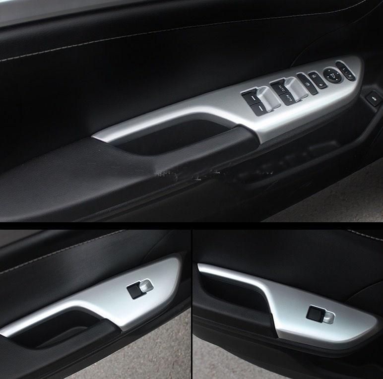 4x Chrome De Voiture Intérieure Porte lève-vitre Cover Version pour Honda Civic 2016 2017