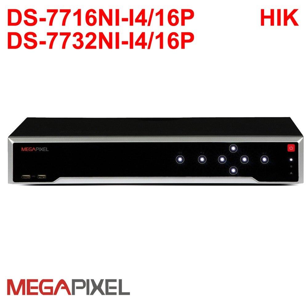 Mégapixels cctv ip surveillance vidéo caméra de sécurité HD enregistreur réseau 16/32ch NVR PoE P2P 4 k pour hikvision 12mp ipc
