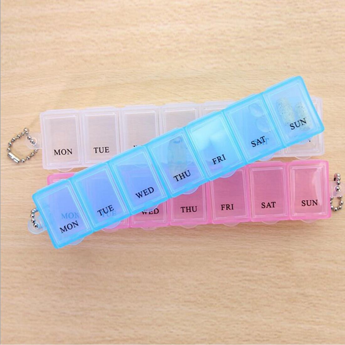 Pill Box разветвители разные цвета 7 дней в неделю Tablet таблетки медицина Box держатель для хранения Организатор Контейнер Дело