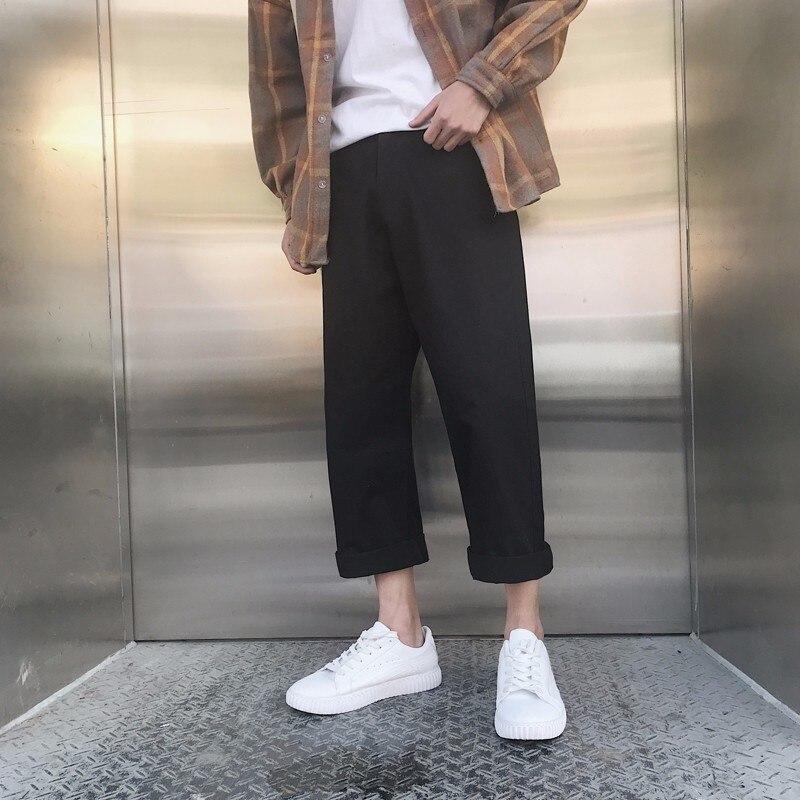 2018 Frühen Herbst Neueste Männer Koreanischen Stil, Mode Flut Haren Breite Bein Gerade Hosen Lose Beiläufige Einfarbig Hose S-2xl