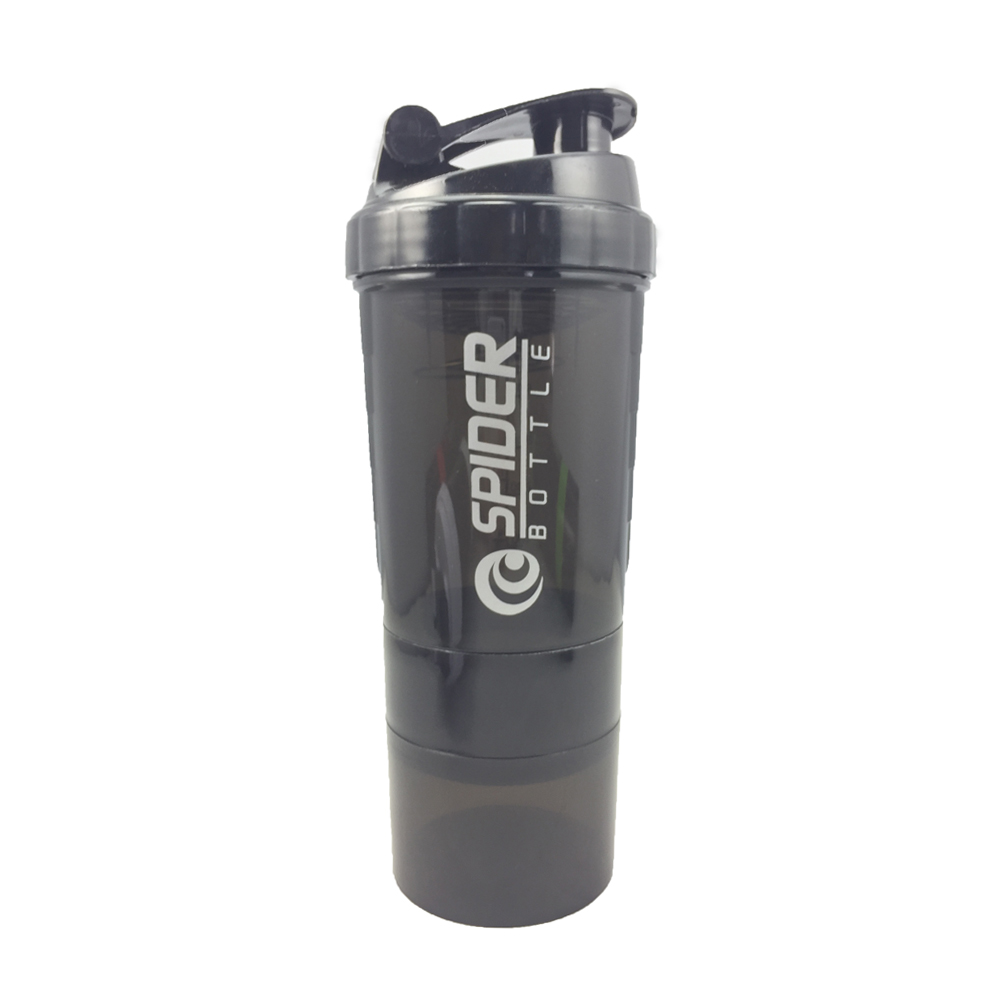 NEW Sports Shaker Bottle Whey Protein Powder Mixing Bottle Sports Nutrition Protein Shaker Fitness Water Bottle With Three-layer 350ml electric protein shaker auto stirring mug blender lazy self stir tornado nutrition mixer bottle cup fitness portable