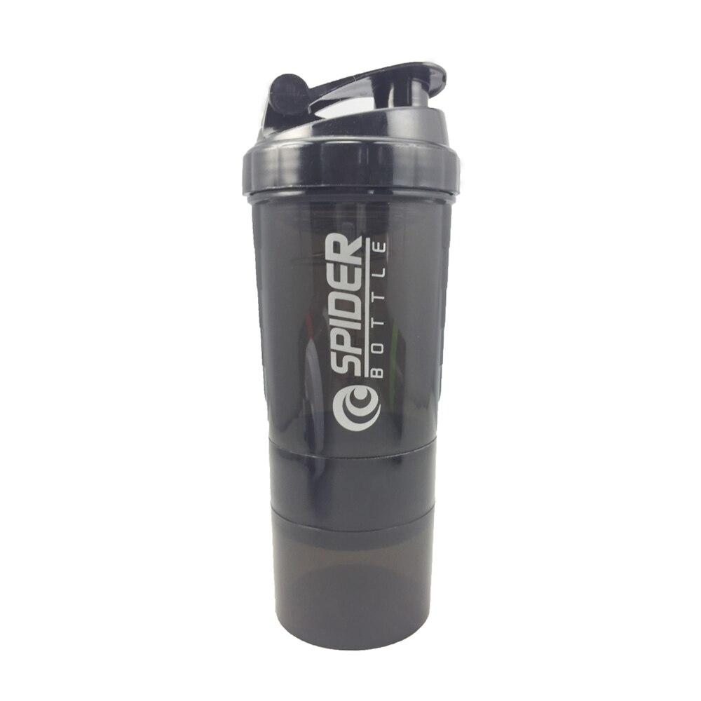 NUOVI Sport Shaker Bottiglia di Proteine In Polvere Del Siero di latte di Miscelazione Bottiglia di Sport Nutrizione Proteina Shaker Bottiglia di Acqua Fitness Con Tre-strato