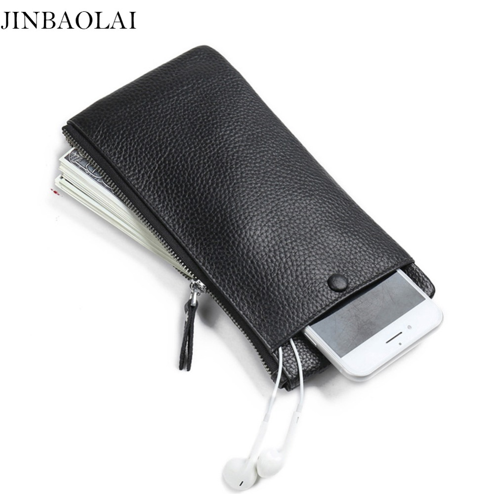 JINBAOLAI Slim Leather Wallets Men Rfid Phone Cases Mini Holders Minimalist Card Wallet Long Carteira Masculina-- BID150 PM49 конвектор supra ecs 520sp white
