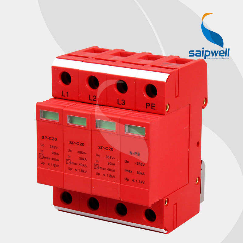 Saipwell 2014 New Surge Protector 20KV-40KV Protective Low-voltage Arrester Device sp-c20-3+pe High QualitySaipwell 2014 New Surge Protector 20KV-40KV Protective Low-voltage Arrester Device sp-c20-3+pe High Quality