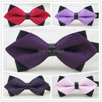1 Pcs Lot Men S Pointed Shape Bowtie Pure Dot Pattern Design Boys Fashion Leisure