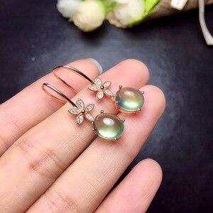 Image 4 - Tự nhiên nho stud bông tai, 925 bạc thiết kế chính xác, phong cách hoa nhỏ, 925 bạc, đầy đủ của ánh