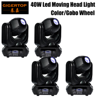 TIPTOP 4 X 40W Led Moving Head Gobo Light Beam Sharpy Disco Stage Scan Effect 16 Beam Angle 10/12 Channels 100W High Power