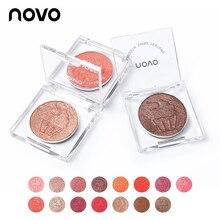 NOVO 15 Color Shimmer Glitter Single Eyeshadow Palette Mouse Cream Smooth Powder