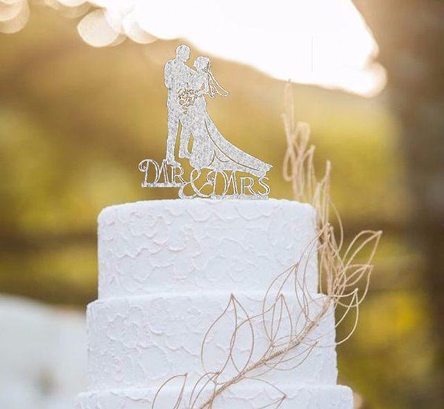 Online Shop Tronzo 2018 New Mr and Mrs Wedding Cake Topper Wedding ...