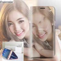 Specchio Cassa del Cuoio di Vibrazione Per Samsung Galaxy J5 J530 2017 J3 J330 J7 J730 2017 EU Smart View Copertura Posteriore per Samsung J5 Pro J7 Pro