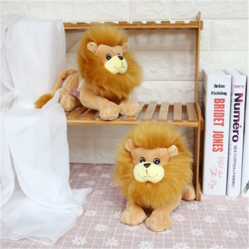 BABIQU 1pc 20cm Stumbling Simulation Lion Forest Animal Plush Toy Soft Stuffed Doll Home Decor Child Kid Gifts Cartoon Modelling