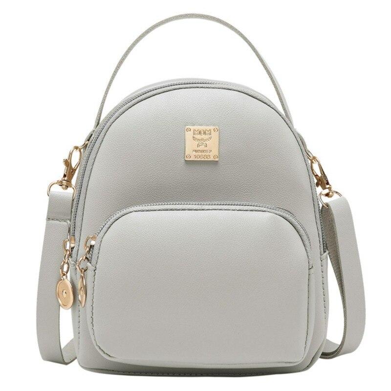 595de56b81f8 Конфеты сплошной цвет из искусственной кожи для женщин школьные Рюкзаки для  подростков обувь девочек Женский Bookbag Mochila подарок Backbag
