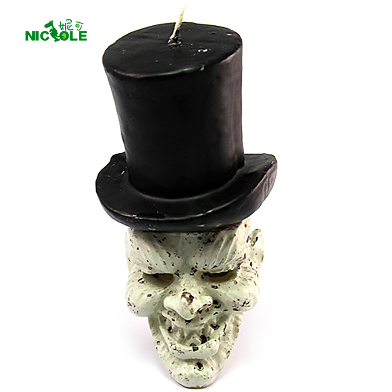 Nicole Silicone Soap Candle Mold 3D Devil Clown Shapes Halloween Mould DIY Handmade Craft Resin Clay Decorating Tool