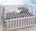 200*28 CM de Algodón Bebé Bumpers Estilo Nórdico Clásico Negro Blanco Medio Rodeado Decorativo Cirb Cuna Bumpers Bebé ropa de cama