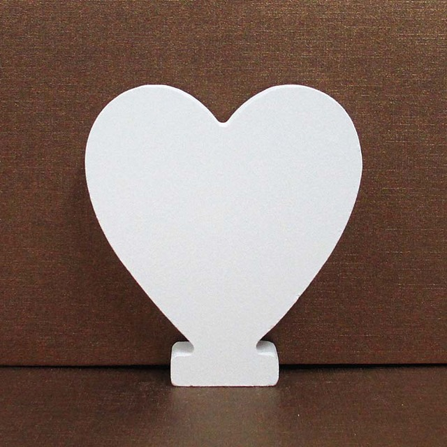8CM Free Standing White Wooden Letter DIY Personalised Name Design Art Craft Heart English Alphabet Wedding Home Shop Decoration 6